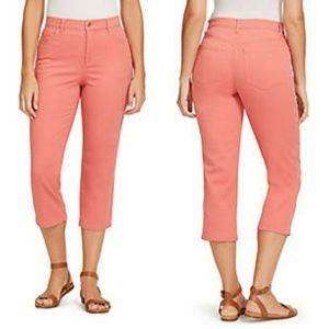 🛒 Gloria Vanderbilt Pink Capri Denim Jeans 3/4